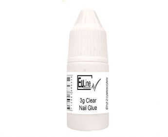 Eu Line UK 3g Clear Tip Glue Adhesive For Salon Acrylic Nails Tips, Nail Art